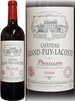 Chateau Grand Puy Lacoste Paulliac 5eme GCC 2004