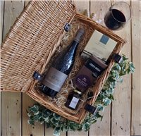 Local Gourmet Chateauneuf du Pape Wicker Gift Hamper