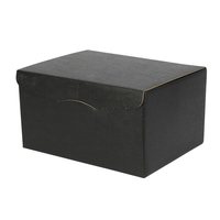 Gift Box Six-Bottle Black Textured Hamper Box