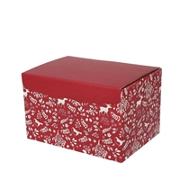 Gift Box Large Hamper Box - Red/White Christmas Design