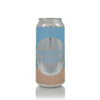 Modest Beer Holiday Beer Now In a Can Italian Style Pilsner 5% ABV