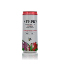 Keeprs Pomegranate and Rose Hard Seltzer 250ml