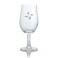 North Brewing Co. Branded Stemmed Beer Glass 1/2 Pint