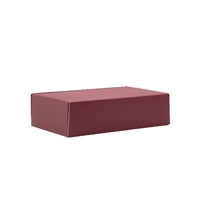 Gift Box Front Opening Burgundy Two-Bottle Gift Carton