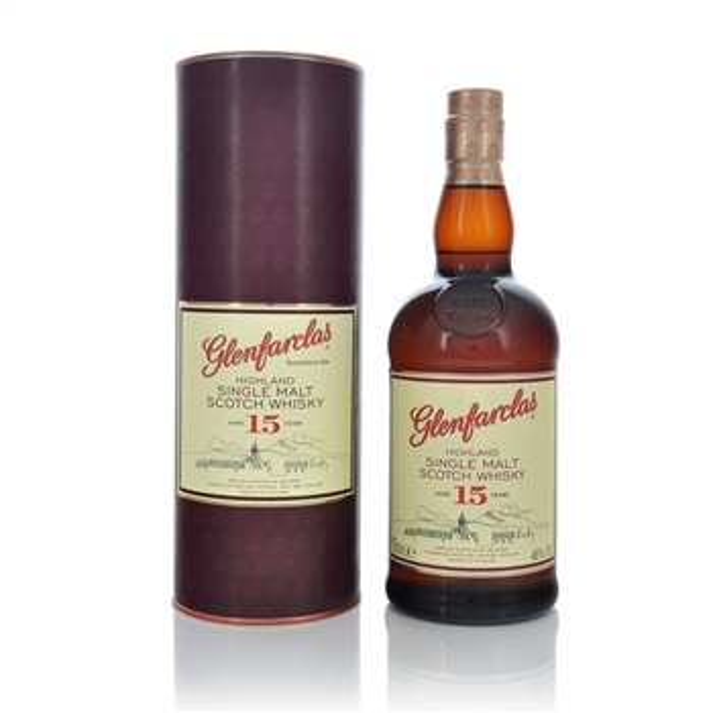 Glenfarclas 15 Year Old Speyside Single Malt Scotch Whisky  - Click to view a larger image