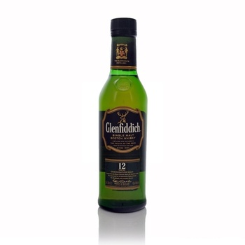 Glenfiddich 12 Year Old Speyside Single Malt Half Bottle  - Click to view a larger image
