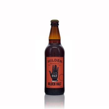 Hilden Brewing Company Hilden Halt Irish Red Ale 6.1% ABV 500ml  - Click to view a larger image