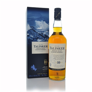 Talisker 10 Year Old Single Malt Scotch Whisky Isle of Skye  - Click to view a larger image