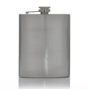 Hip Flask 8oz Stainless Steel  - Click to view a larger image