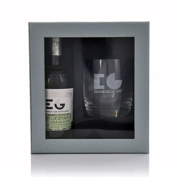 Edinburgh Gin Elderflower Liqueur & Glass Set  - Click to view a larger image