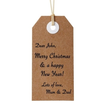 Hand Written Gift Tag