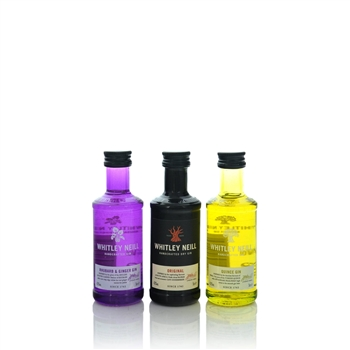 Whitley Neill Miniature Gift Rhubarb, Original & Quince Set 3 x 50ml  - Click to view a larger image