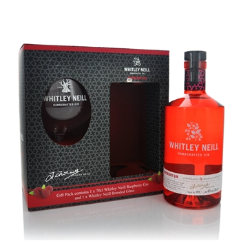 Whitley Neill Raspberry Gift Set 700ml  - Click to view a larger image