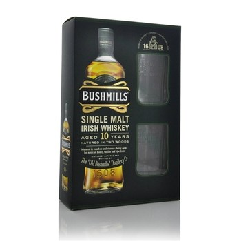Bushmills 10 Year old Malt Glass pack  - Click to view a larger image