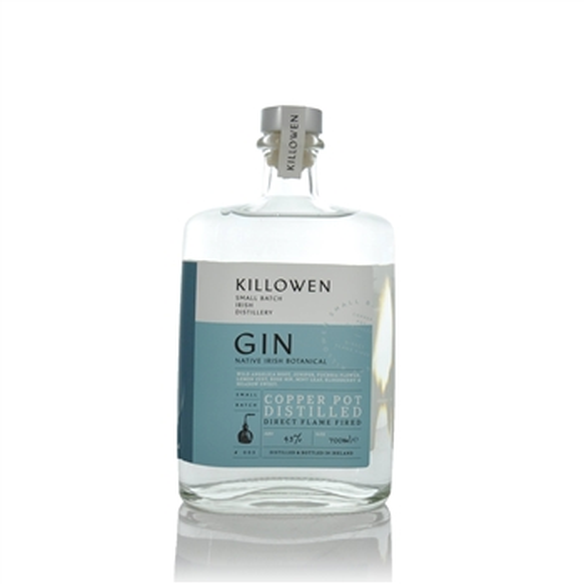 Killowen Small Batch Native Irish Botanical Gin 500ml  - Click to view a larger image