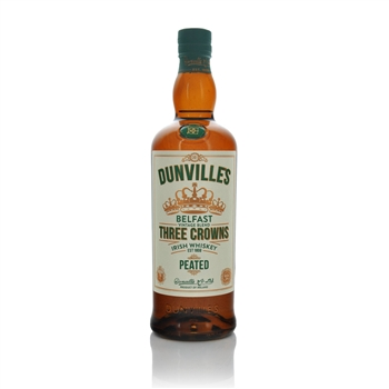 Dunvilles Three Crowns Peated Irish Whiskey 700ml  - Click to view a larger image