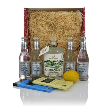Mourne Dew Distillery Kilbroney Gin 700ml Christmas Gift Set  - Click to view a larger image