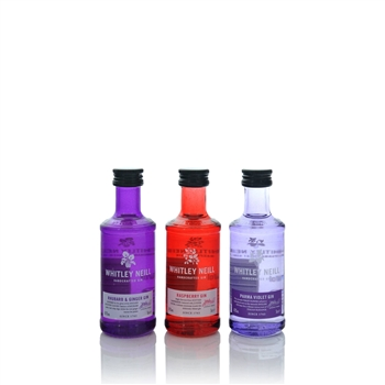 Whitley Neill Miniature Gift Set Rhubarb, Raspberry & Parma Violet 3 x 50ml  - Click to view a larger image