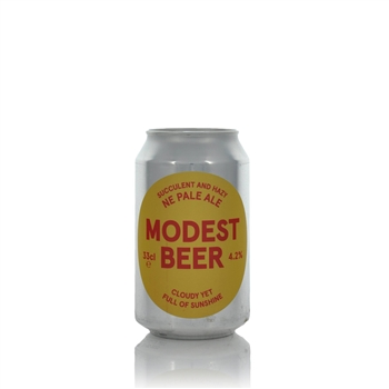 Modest Beer Cloudy Yet Full Of Sunshine NE Pale Ale 4.2% ABV  - Click to view a larger image