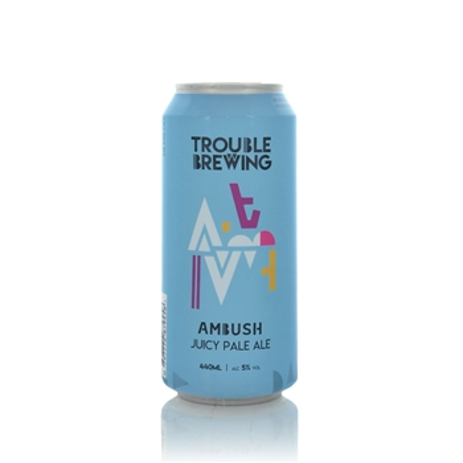 Trouble Brewing Ambush Juicy Pale Ale 5% ABV  - Click to view a larger image