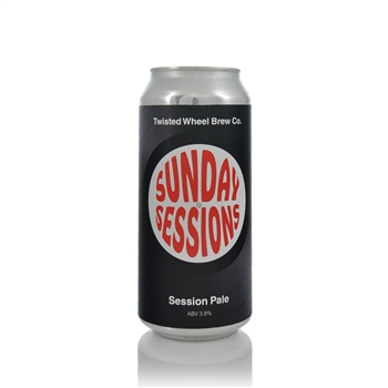 Twisted Wheel Brew Co. Sunday Sessions Session Pale Ale 3.8% ABV  - Click to view a larger image