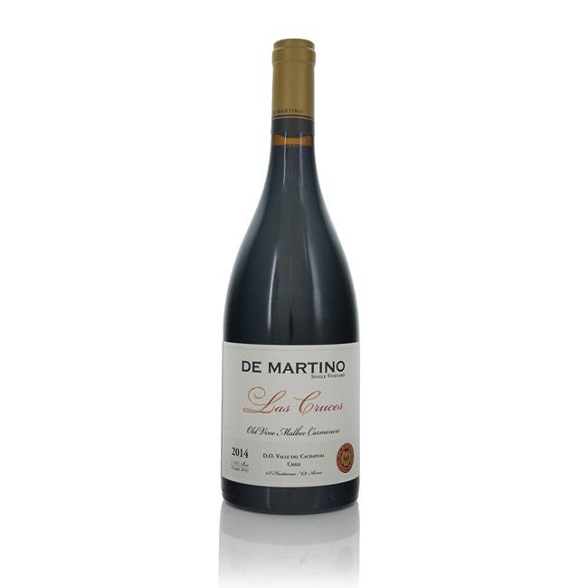 De Martino Las Cruces Old Vine Malbec Carmenere 2014  - Click to view a larger image