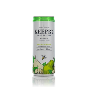 Keeprs Pear and Ginger Hard Seltzer 250ml  - Click to view a larger image