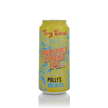 Tiny Rebel Brewing X Polly's Brew Co. Pineapple Express IPA 6.2% ABV  - Click to view a larger image