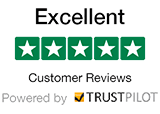 We have 5 Stars - Excellent Customer Reviews - Powered by Trustpilot